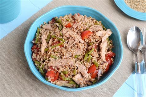 ricette per cucinare il farro 187 insalata di farro fagiolini e tonno ricetta insalata