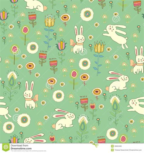 free eastern pattern background bright easter pattern with rabbits royalty free stock