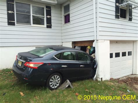 car crashes into house car crashes into home in neptune township 187 unexcelled fire company