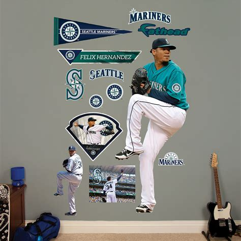 fatheads wall stickers felix hernandez pitcher fathead wall decals