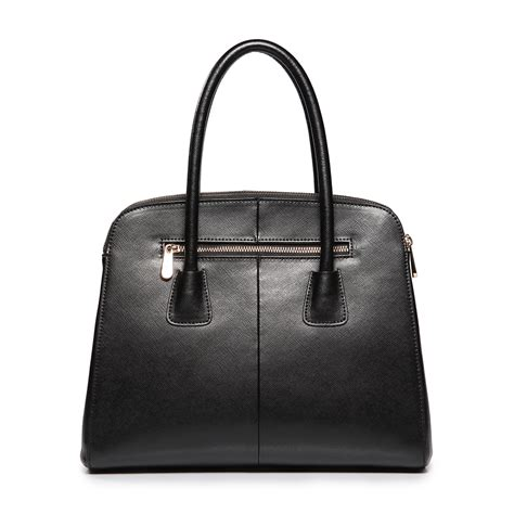 Cowhide Handbags Wholesale high quality cowhide leather wholesale handbags black