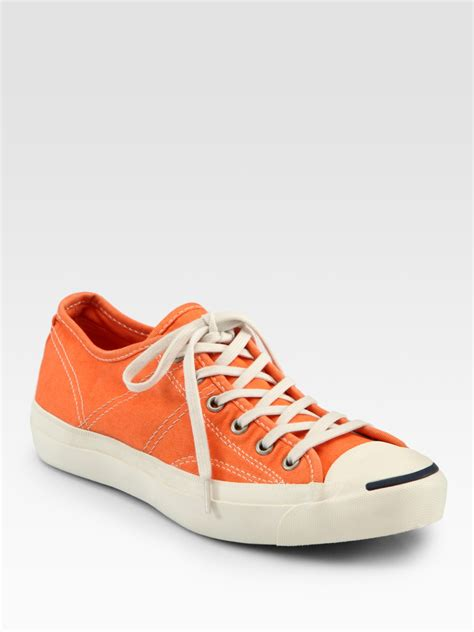 Convers Tanggal Orange 1 converse purcell lace up sneakers in orange lyst