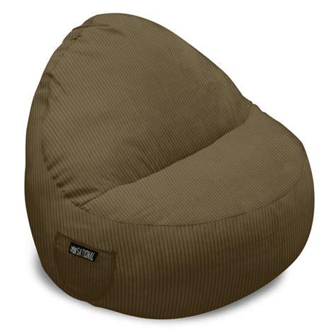 corduroy bean bag couch sitsational corduroy foam bean bag sofa dcg stores