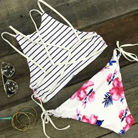 Dress Anak White Print Flower Pinkrsby 1384 reversible floral striped print halter sets lilly closet