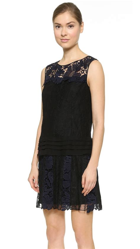 Layer Lace ricci lace layer dress in black lyst