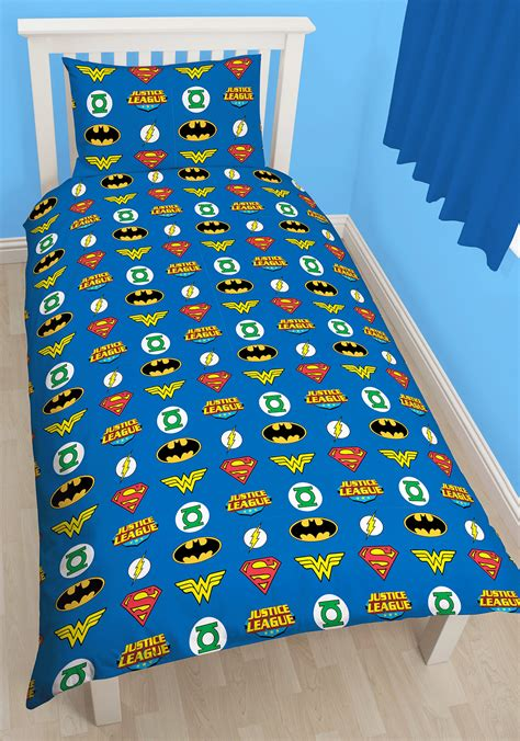 justice bedding justice league invincible single duvet cover reversible