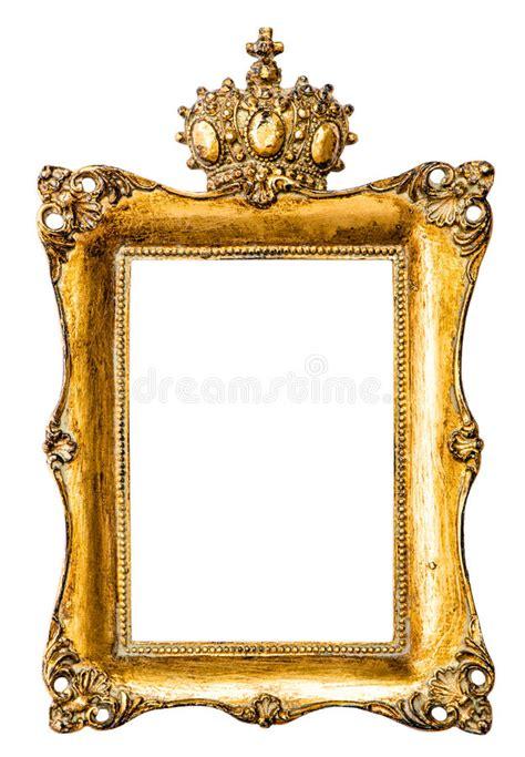 baroque golden picture frame  crown vintage object