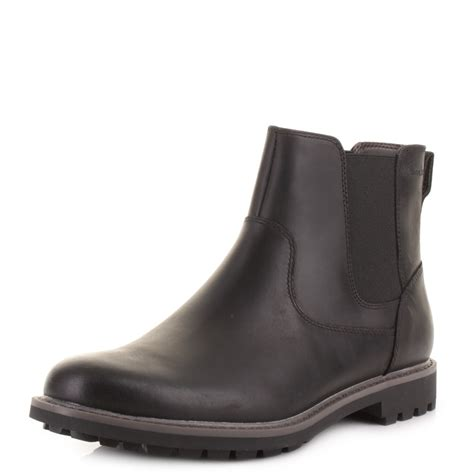 best black boots mens mens clarks montacute top back leather chunky chelsea