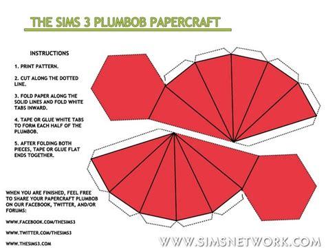 Plumbob Papercraft - plumbob papercraft snw simsnetwork