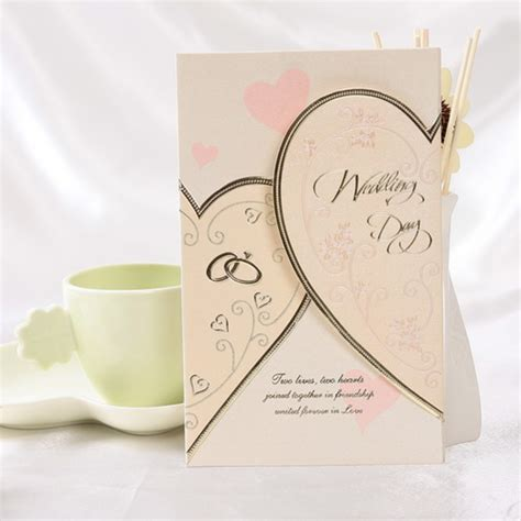 vintage embossed tri fold wedding invitation with ribbon bow set