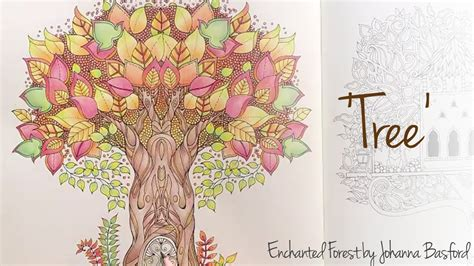 Make Coloring Pages From Photos by Enchanted Forest Johanna Basford Tree Youtube