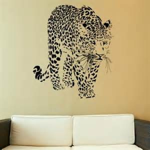 leopard big cat wall sticker decal home the bang theory icon art
