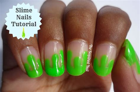 Slime Nail Tutorial   the sequined nail slime nails tutorial