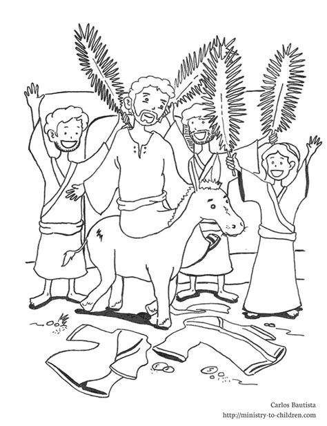 Palm Sunday Coloring Pages Palm Sunday Coloring Page