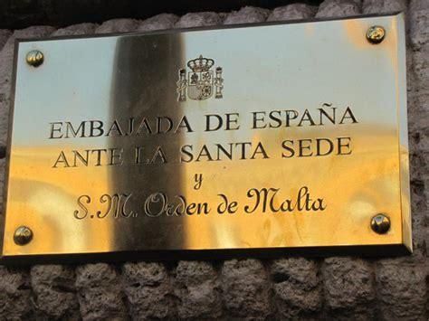 ambasciata italiana santa sede embajada de espa 241 a ambasciata di spagna santa sede roma