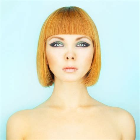 micro bangs with waves short bob hairstyles 21 bobbed looks for the spring season
