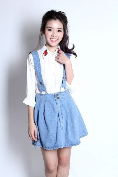 Suspender Denim Dress light denim suspender skirt m dresses