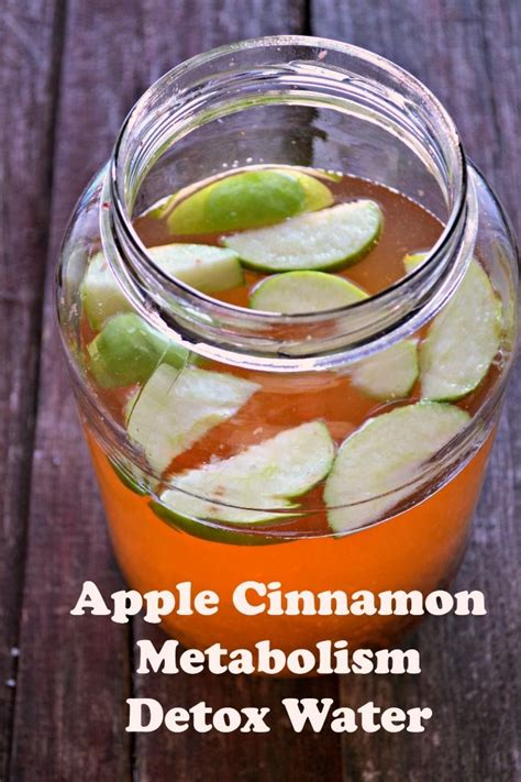Detox Water Recipe by Apple Cinnamon Metabolism Water Recipe Detox Waters