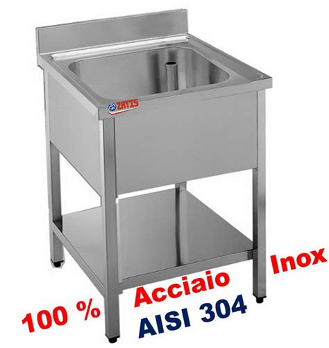 lavelli inox professionali lavelli inox su gambe lavello cm 60x60x85 in acciaio