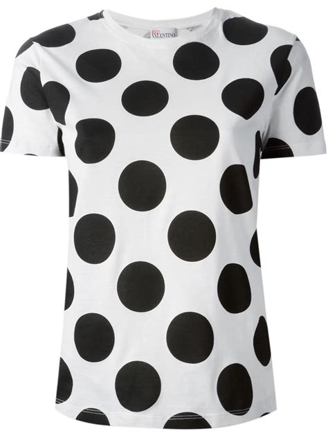 Dots T Shirt lyst valentino polka dot t shirt in black