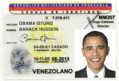 venezuelan id template news and views what if obama were a venezuelan