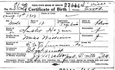 Birth Records Tx New Content Vets Criminals Immigrants And Engineers