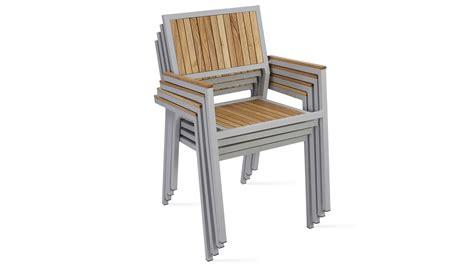 chaise de jardin aluminium fauteuil de jardin en bois et aluminium