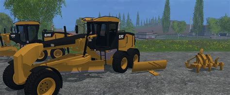 salt ls and cats cat 140m road grader v2 0 for ls 17 farming simulator