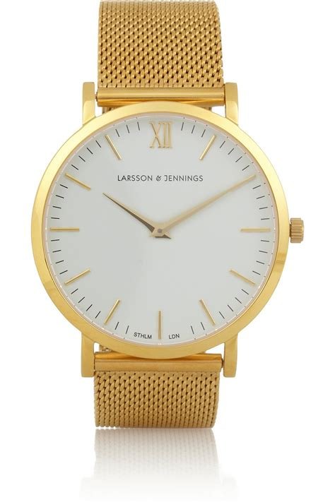 larsson cm gold plated in gold lyst