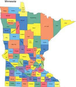 What County Is Mn In Minnesota Map With Counties