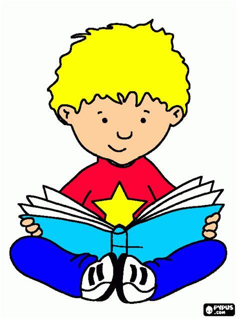 un libro ni 241 o leyendo un libro colouring pages