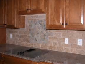 Large Tile Kitchen Backsplash Tiles Backsplash Black L Shaped Cabinetry With Granite Countertop Wooden Laminate Flooring Grey