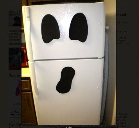 decoracion nevera halloween look a ghost refrigerator for halloween bags offices