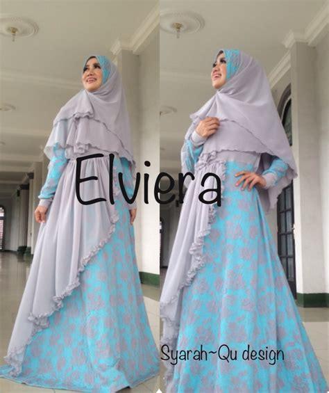 Busana Trendy Almira by Elviera Abu Tosca Baju Muslim Gamis Modern