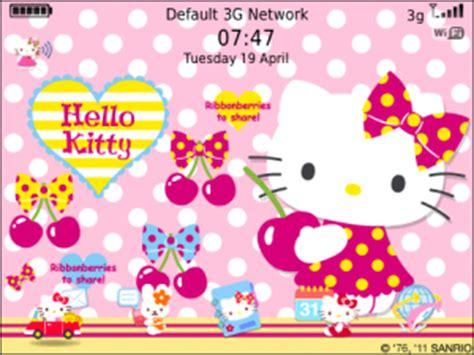 hello kitty themes cherry mobile hello kitty loves cherry theme for blackberry themes download
