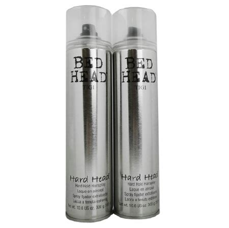 bed head hard head hairspray tigi bed head hard head hard hold hairspray 2 pk walgreens