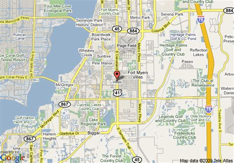 fort myers resort map map of clarion hotel fort myers fort myers