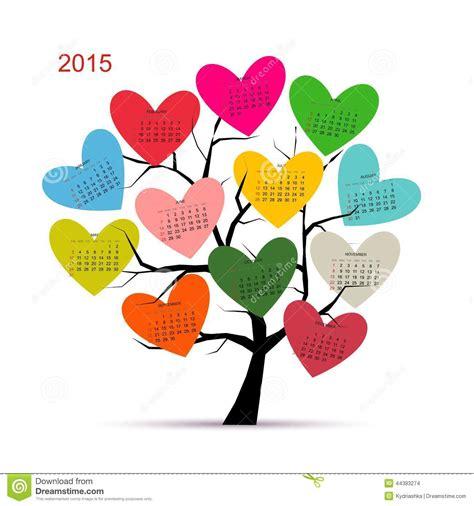 design calendar 2015 download calendar tree 2015 for your design stock vector image