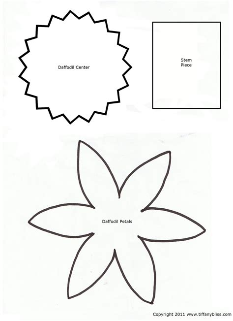 paper cut out templates flowers 7 best images of printable cut out flower patterns