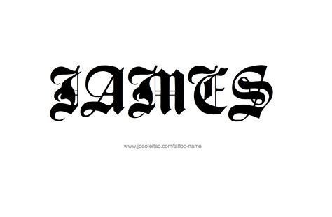 james tattoo designs font name designs
