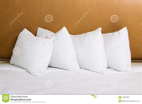 white bed pillows white pillows on the bed royalty free stock images image