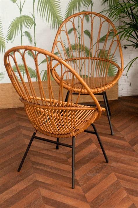 chaise en rotin vintage vintage rattan chair 50s 1950 vintage rattan chairs design 50
