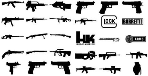 Weapon Graphics 5 guns vector free vector in open office drawing svg svg