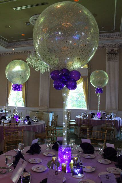 aqua gems centerpieces party event decor wedding