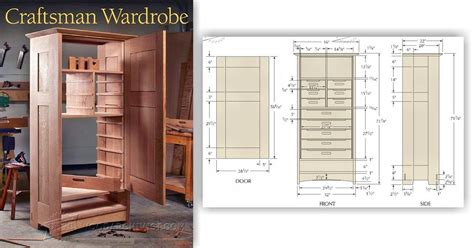 Wardrobe Plan by Craftsmans Wardrobe Plans Woodarchivist