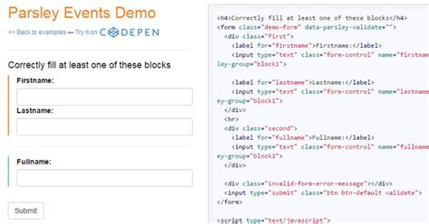 parsley pattern validation powerful open source jquery form validation plugins