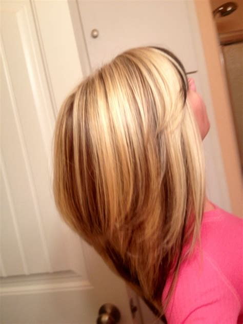 highlow hair color and cut blonde high lights and peek a boo low lights beauty
