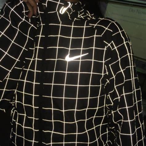 grid pattern nike jacket nike flicker hurricane jacket 3m reflective black 596250
