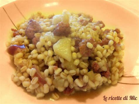 ricerca ricette con orzo con salsiccia giallozafferano it