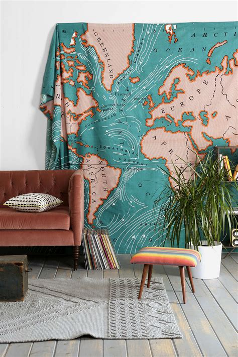 wall map for room spice up your space 20 living room wall decor ideas